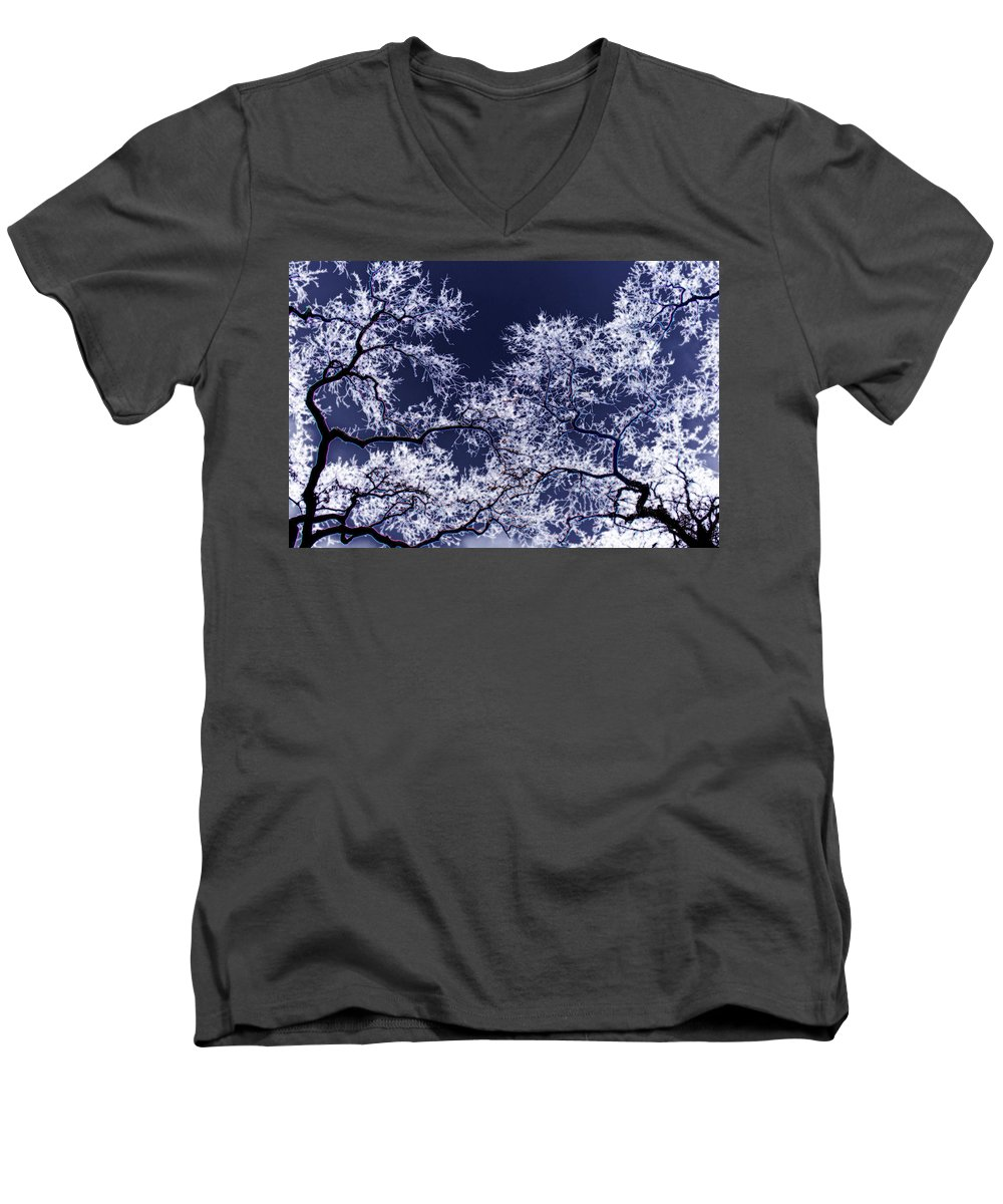 Tree Men's V-Neck T-Shirt featuring the photograph Tree Fantasy 17 by Lee Santa