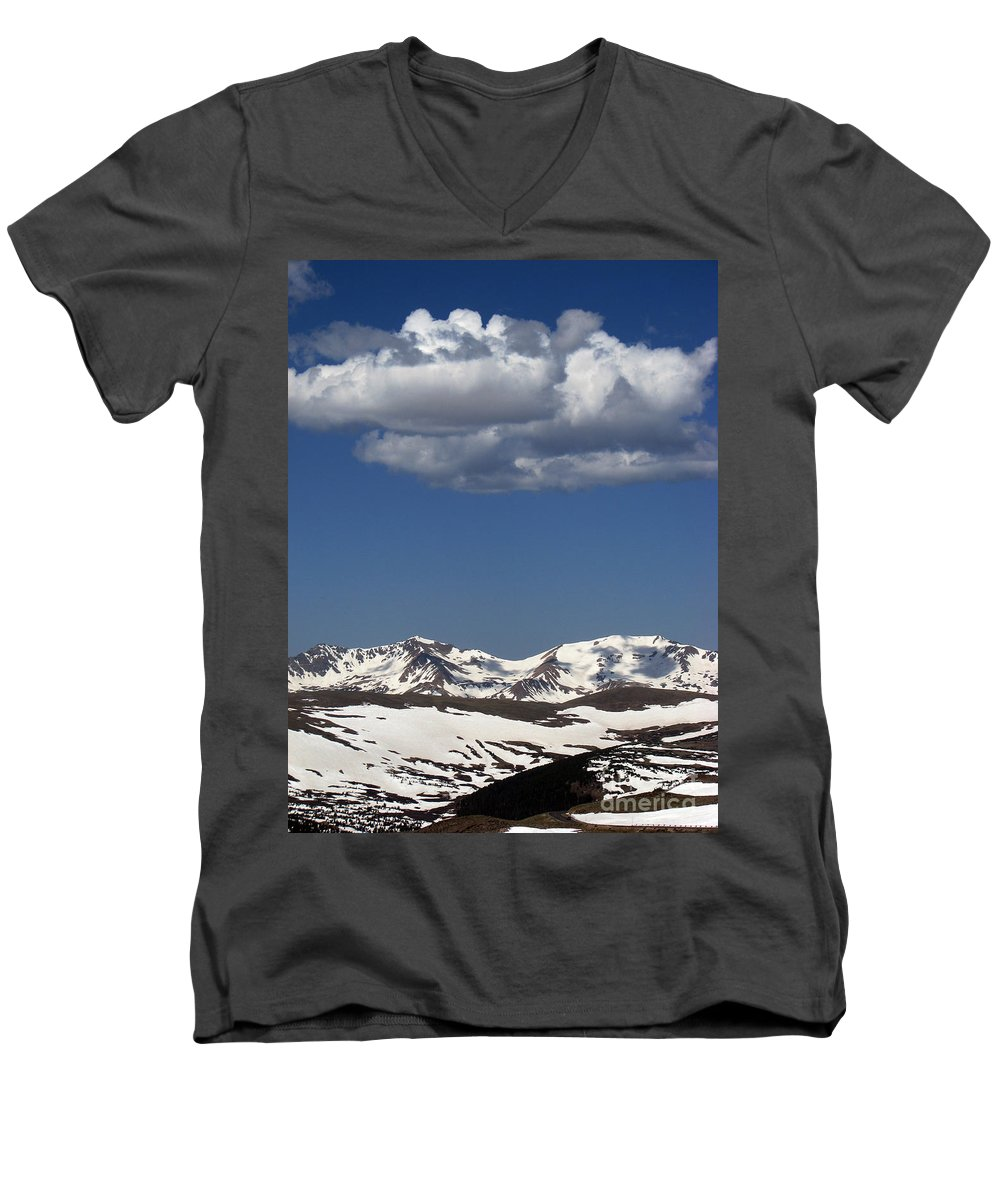 Colorado Men's V-Neck T-Shirt featuring the photograph Above It All by Amanda Barcon