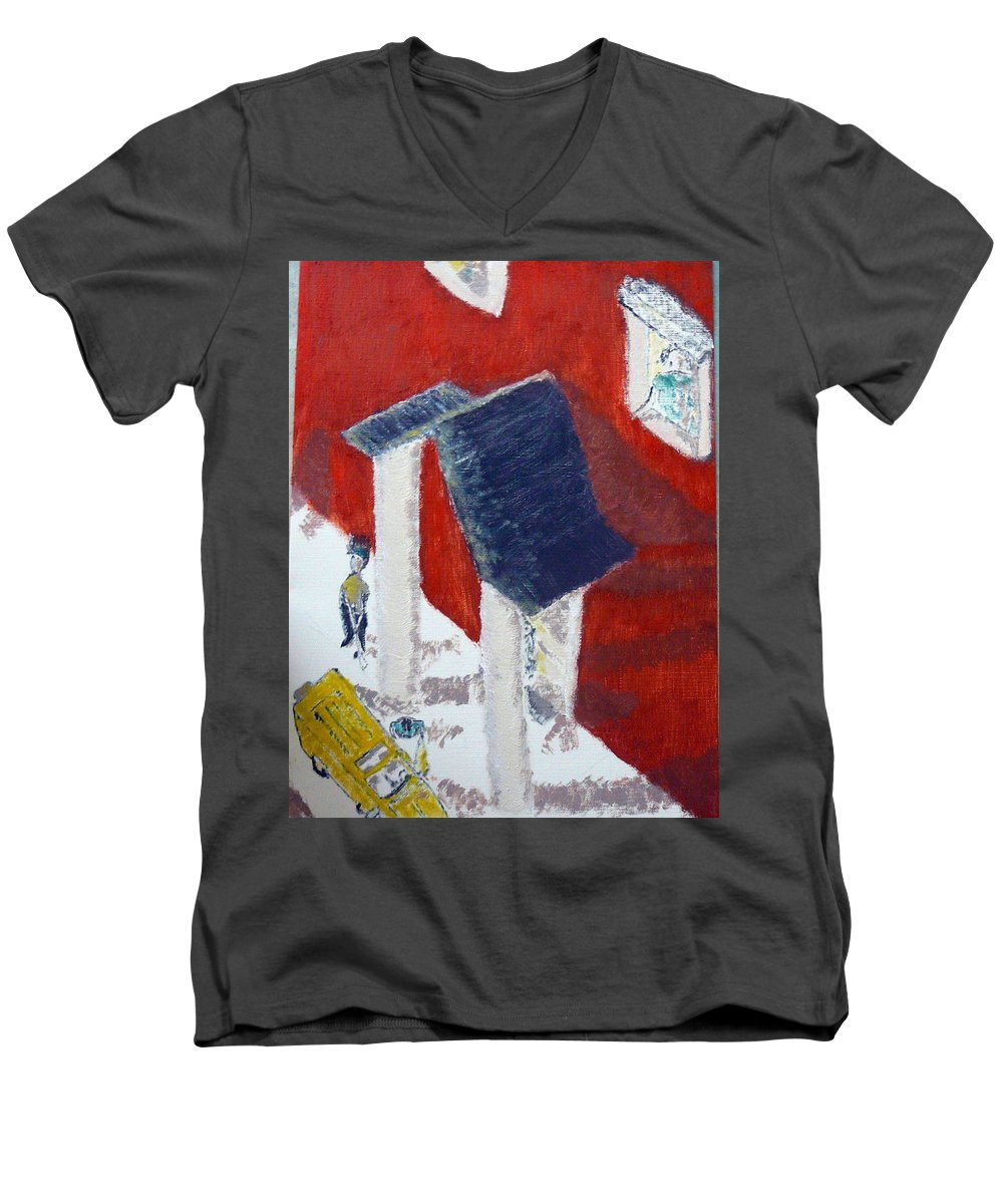 Social Realiism Men's V-Neck T-Shirt featuring the painting Accessories by R B