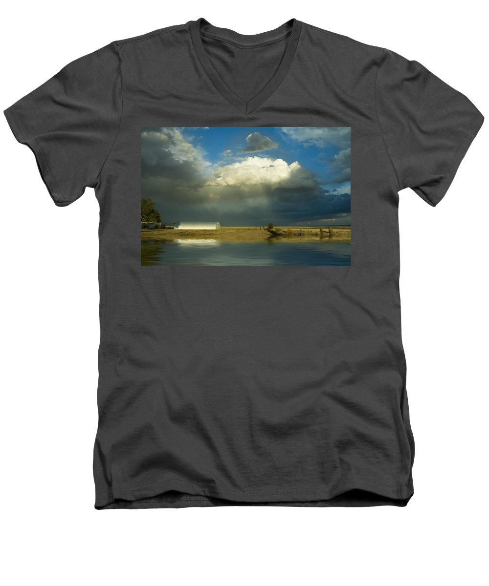 Storm Men's V-Neck T-Shirt featuring the photograph After The Storm by Jerry McElroy