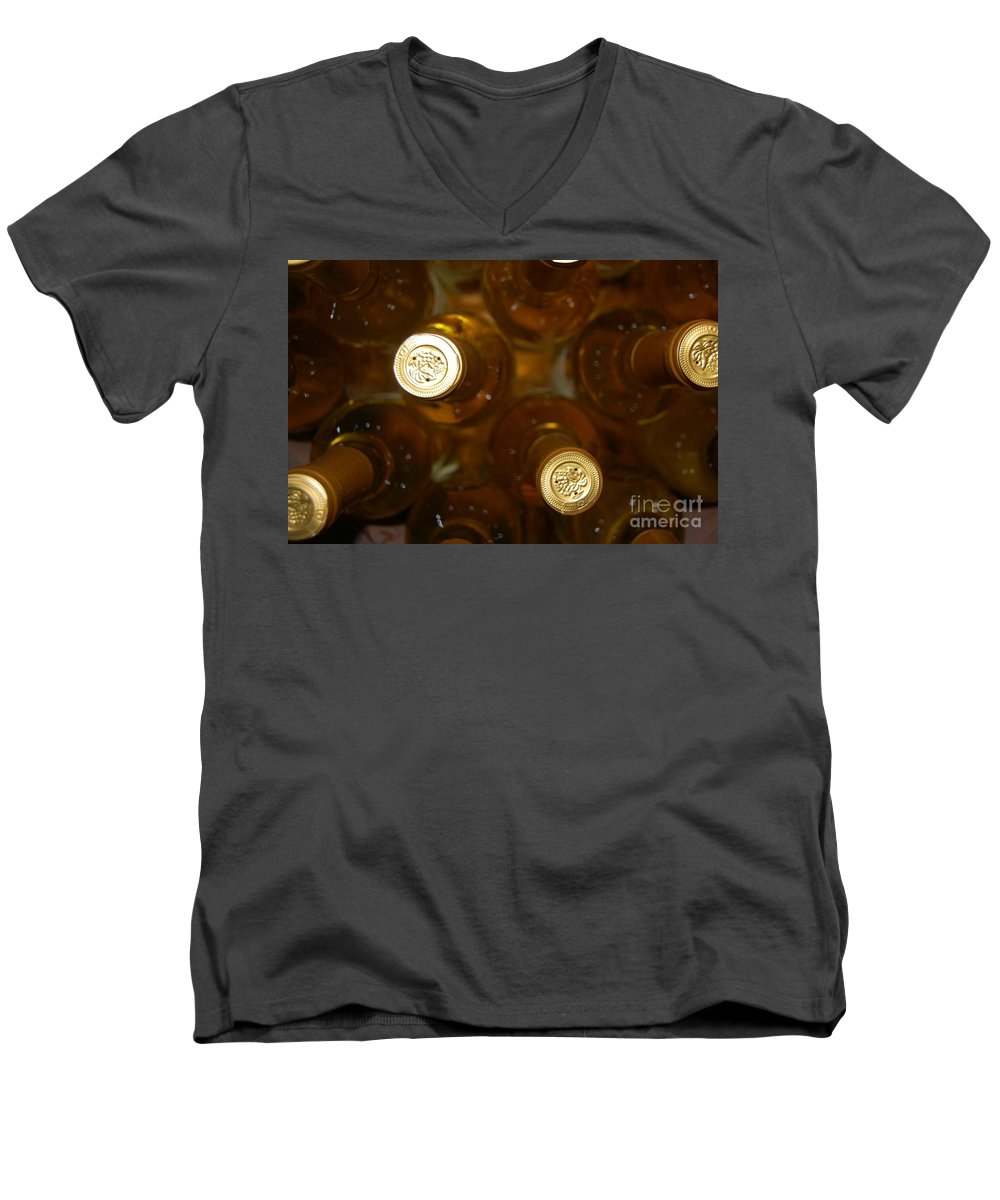 Wine Men's V-Neck T-Shirt featuring the photograph Aged Well by Debbi Granruth