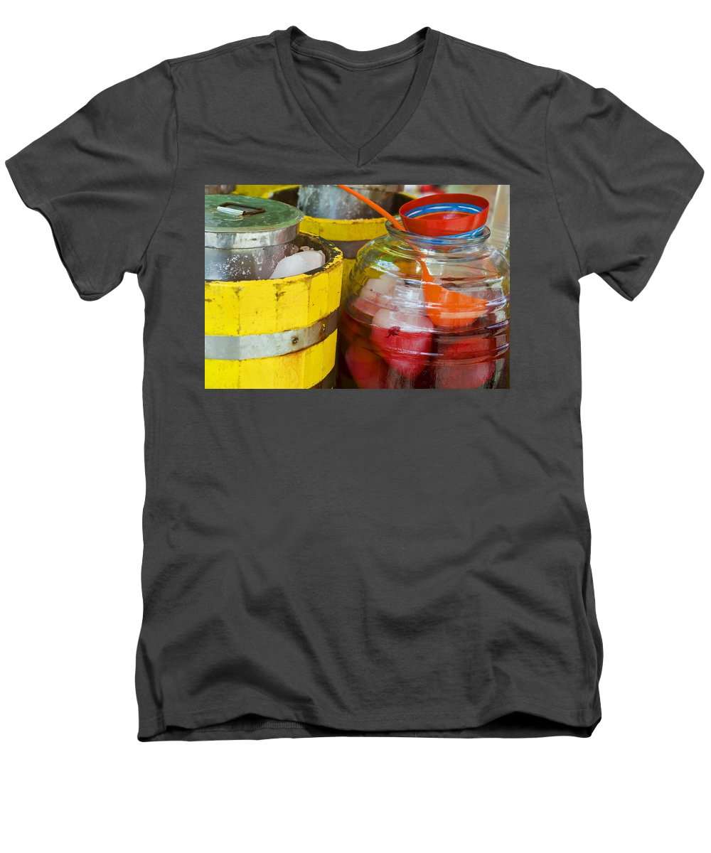 Beverage Men's V-Neck T-Shirt featuring the photograph Agua De Hamaica by Skip Hunt