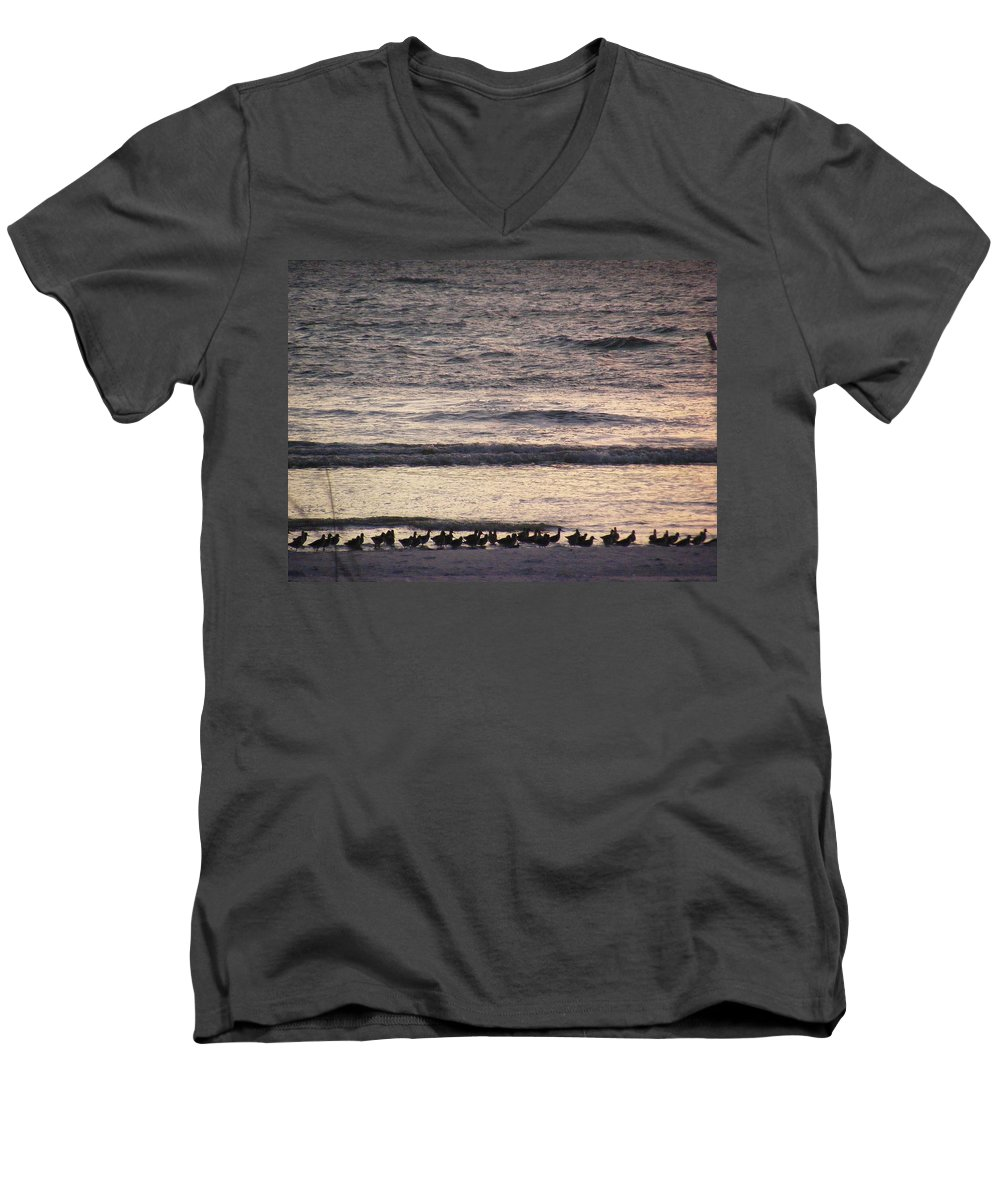 Evening Stroll Men's V-Neck T-Shirt featuring the photograph An Evening Stroll by Ed Smith
