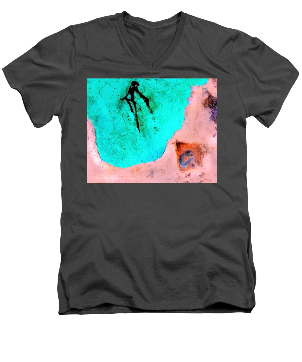 Spirit Afterlife Innerself Soul Fly Men's V-Neck T-Shirt featuring the painting And The Spirit Moved by Veronica Jackson