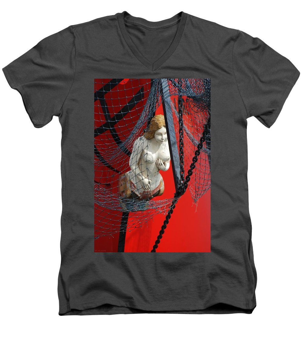 Ship Men's V-Neck T-Shirt featuring the photograph Angel Of The Seas by Rob Hans
