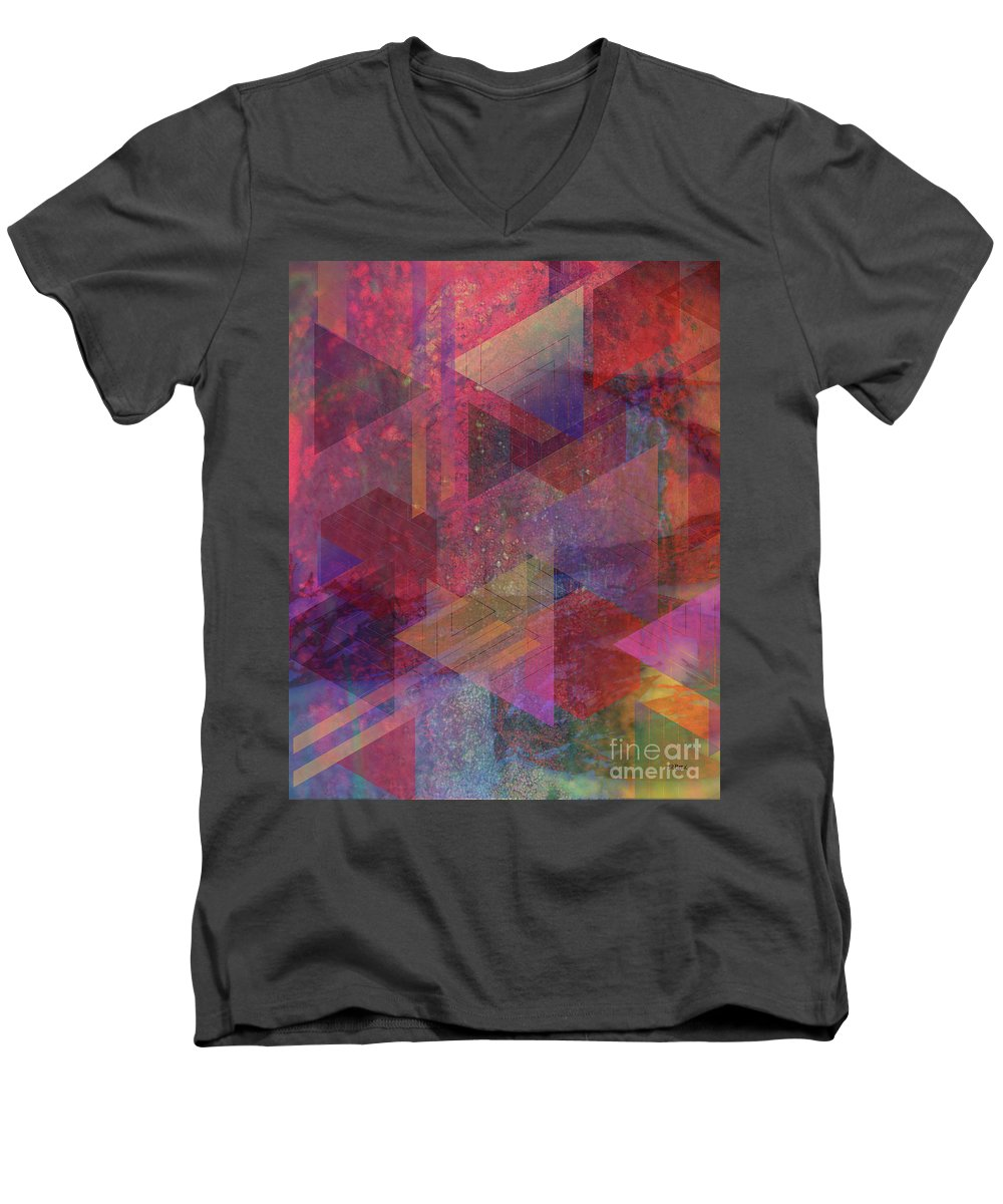 Another Place Men's V-Neck T-Shirt featuring the digital art Another Place by John Beck