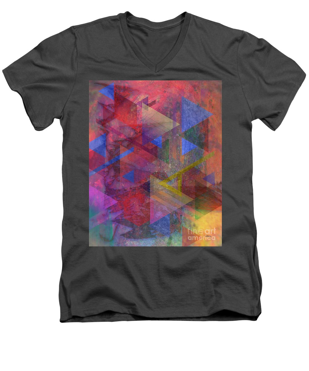Another Time Men's V-Neck T-Shirt featuring the digital art Another Time by John Beck