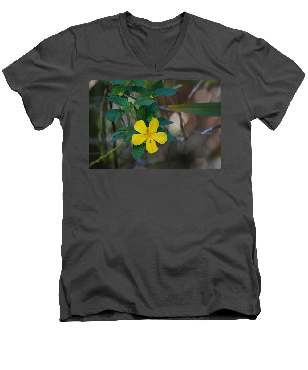 Macro Men's V-Neck T-Shirt featuring the photograph Ant Flowers by Rob Hans