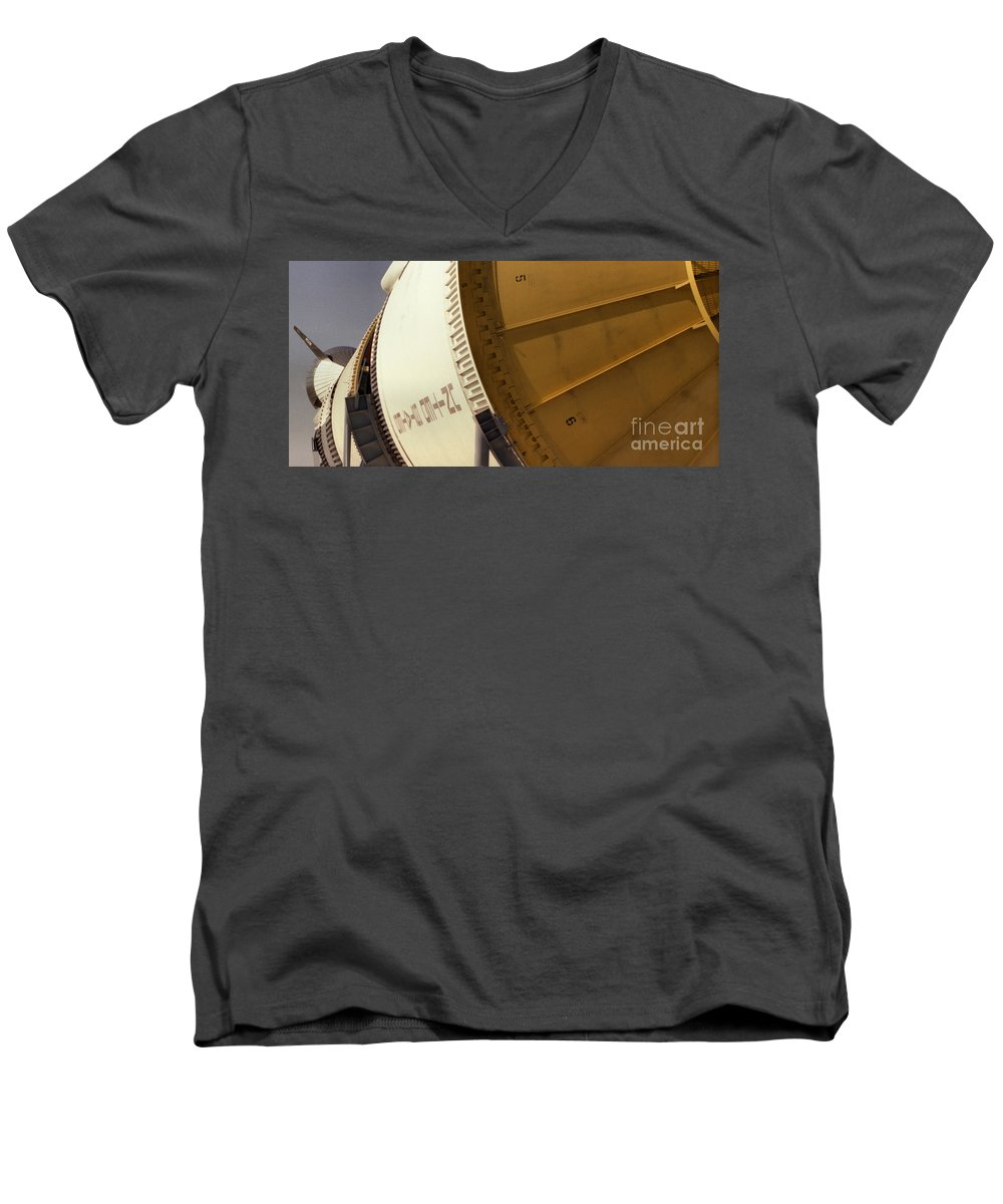 Technology Men's V-Neck T-Shirt featuring the photograph Apollo Rocket by Richard Rizzo