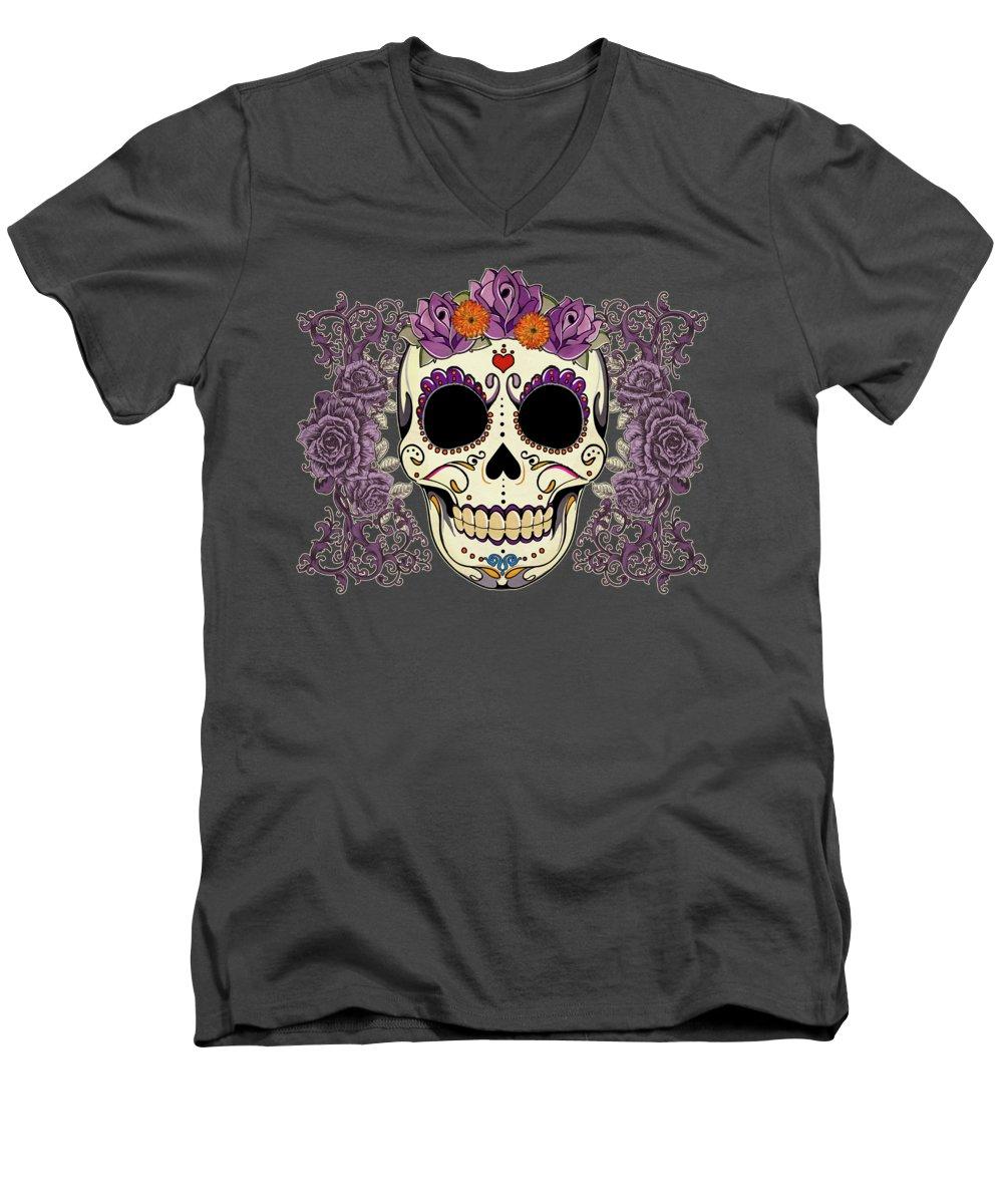 Floral V-Neck T-Shirts