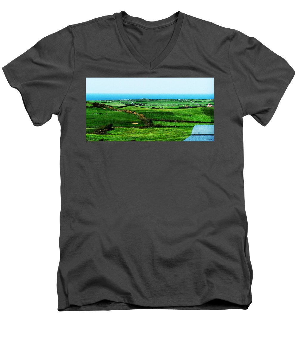 Ireland Men's V-Neck T-Shirt featuring the photograph Atlantic View Doolin Ireland by Teresa Mucha