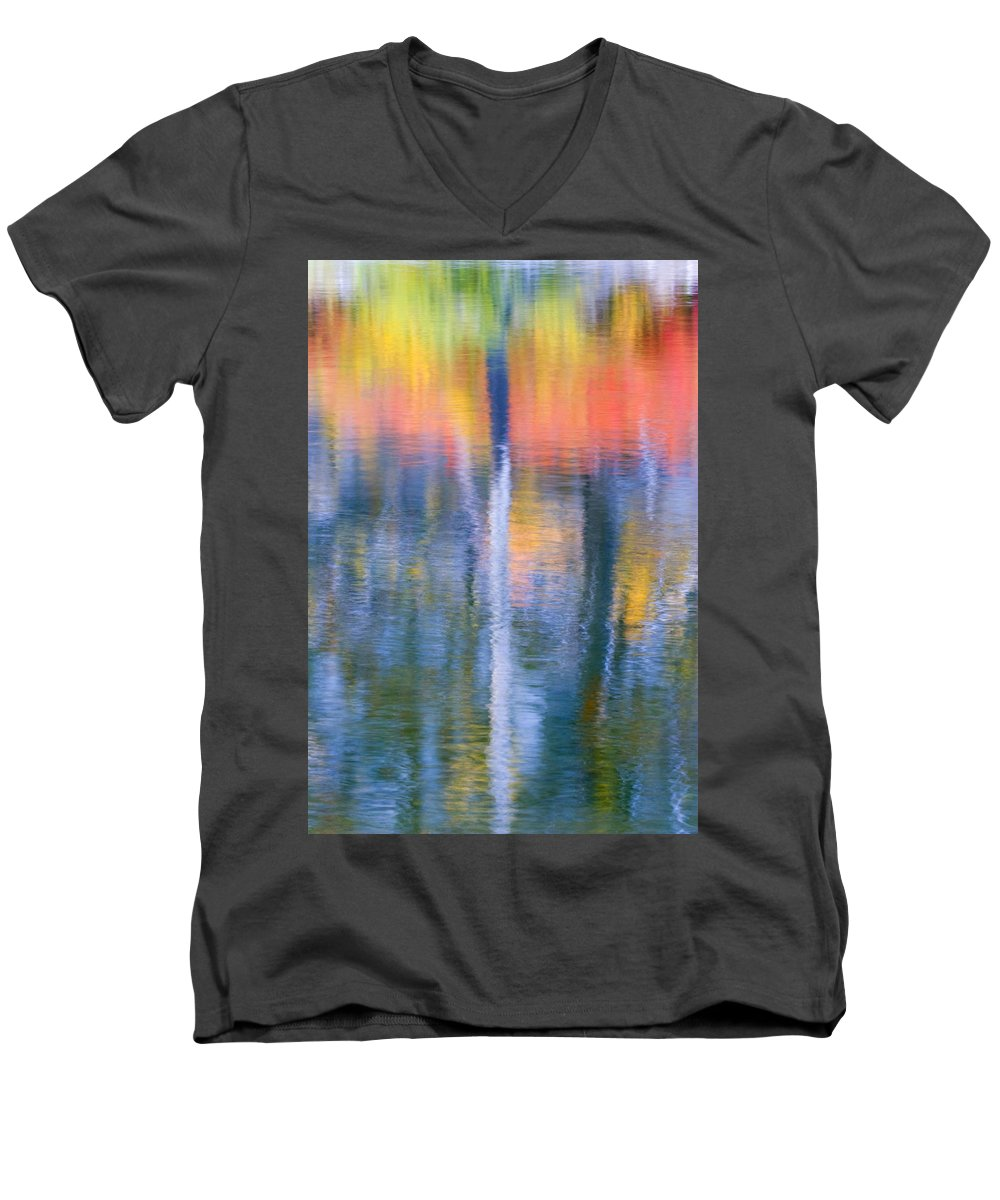 Reflection Men's V-Neck T-Shirt featuring the photograph Autumn Resurrection by Mike Dawson