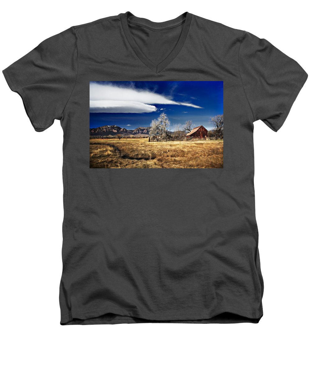 Colorado Men's V-Neck T-Shirt featuring the photograph Beautiful Colorado by Marilyn Hunt