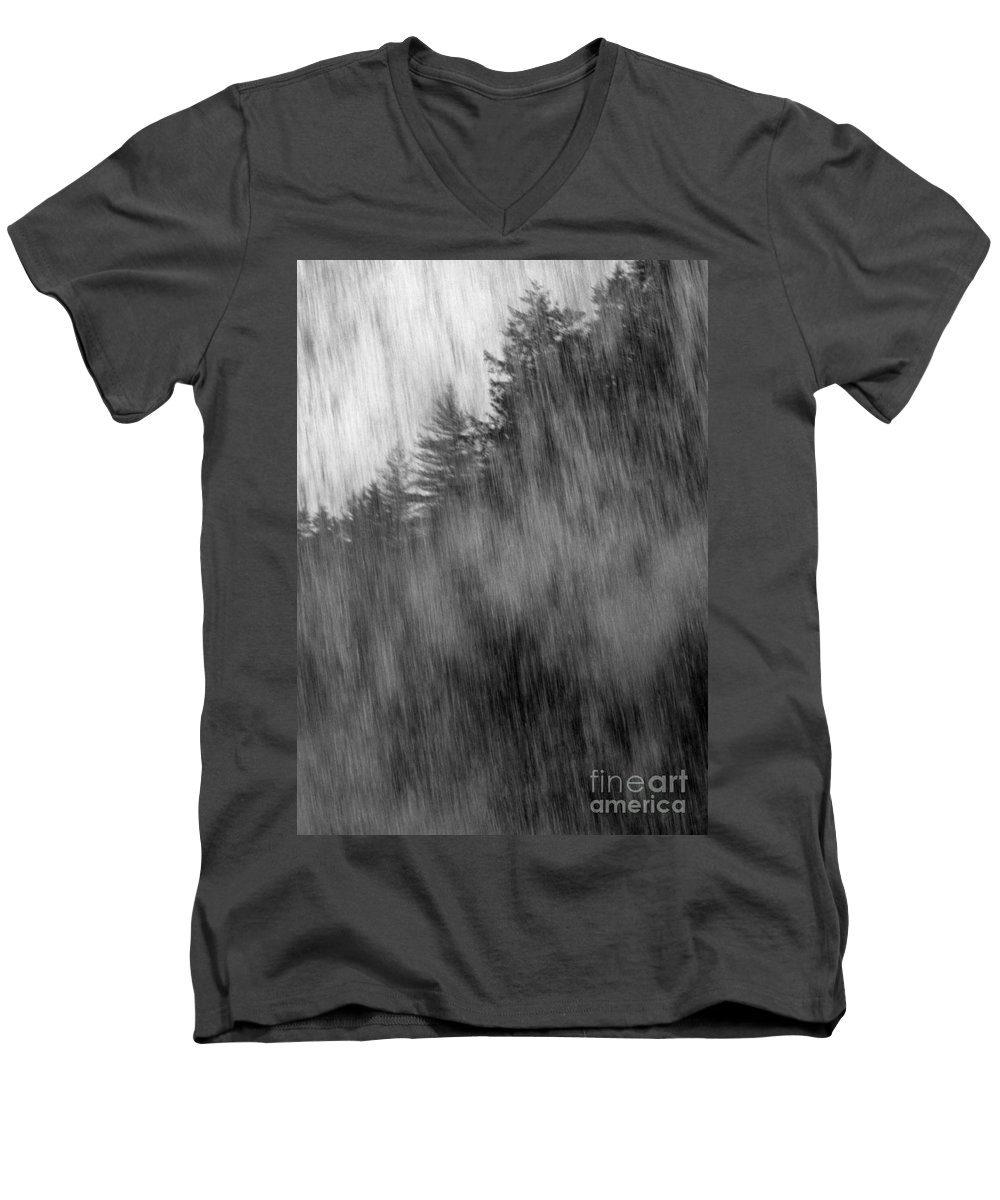Waterfalls Men's V-Neck T-Shirt featuring the photograph Behind The Falls by Richard Rizzo