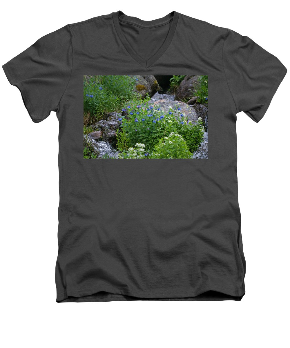 Wildflowers Men's V-Neck T-Shirt featuring the photograph Bluebells by Heather Coen