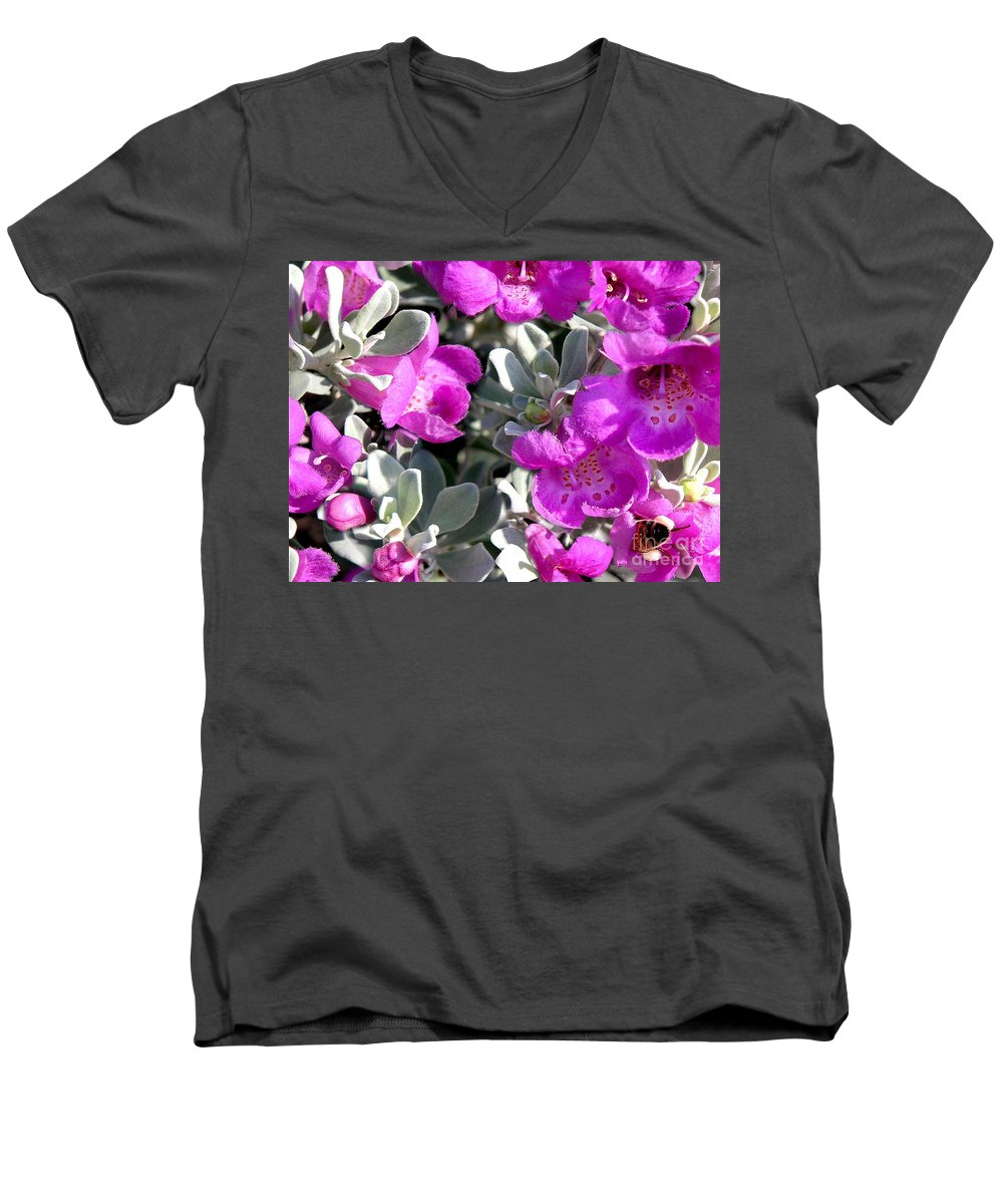 Nature Men's V-Neck T-Shirt featuring the photograph Bottoms Up by Lucyna A M Green