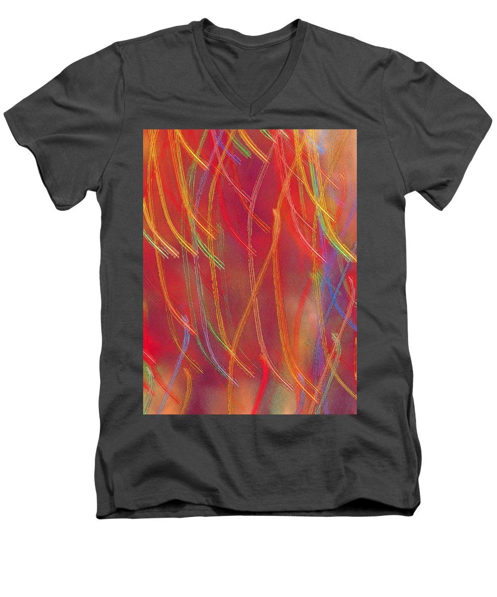Abstract Men's V-Neck T-Shirt featuring the photograph Celebration by Gaby Swanson