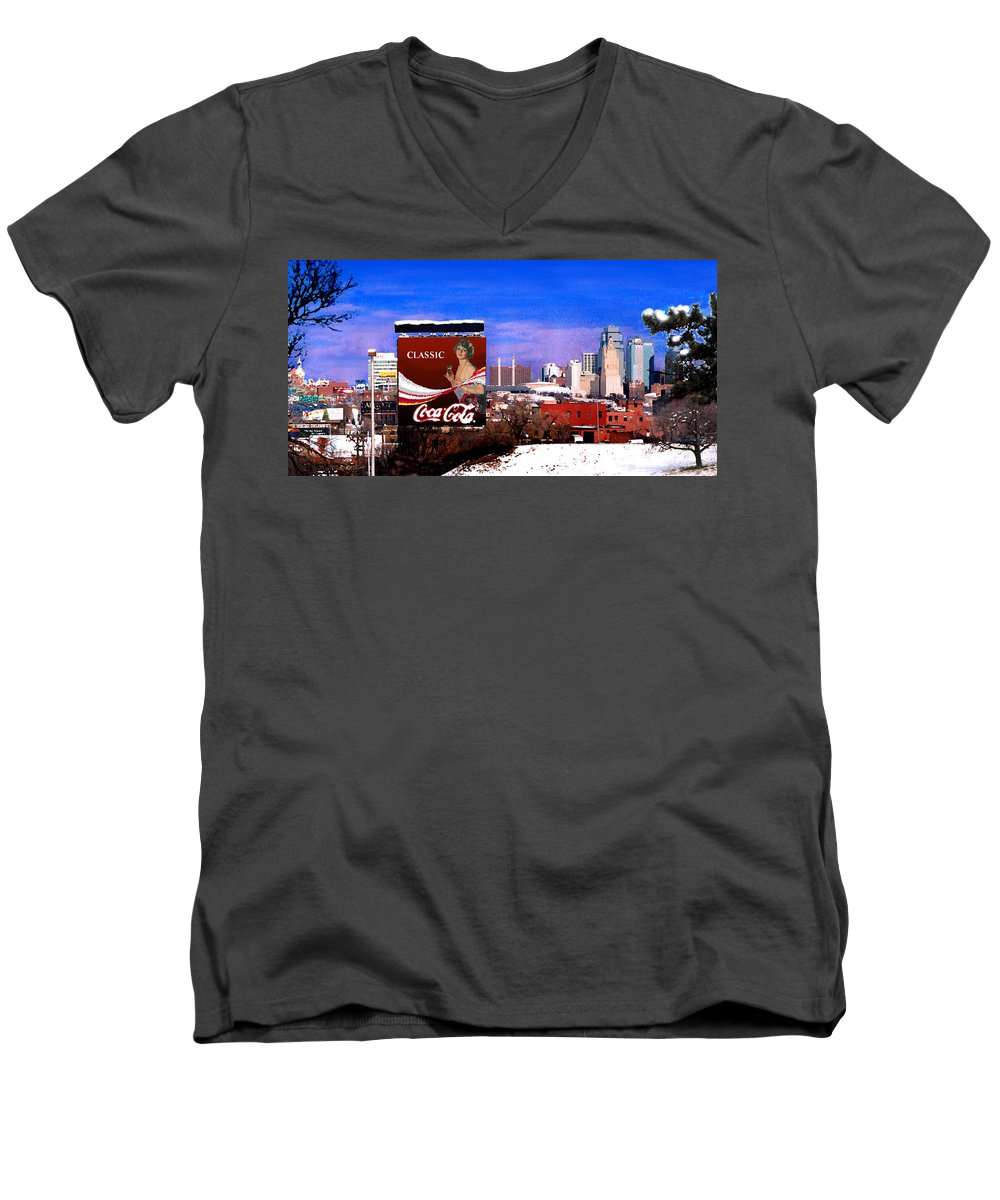 Landscape Men's V-Neck T-Shirt featuring the photograph Classic by Steve Karol