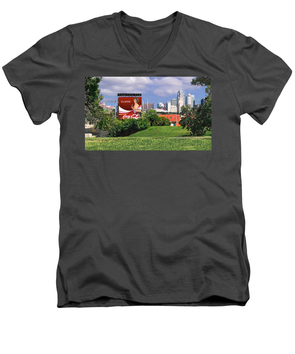 Landscape Men's V-Neck T-Shirt featuring the photograph Classic Summer by Steve Karol