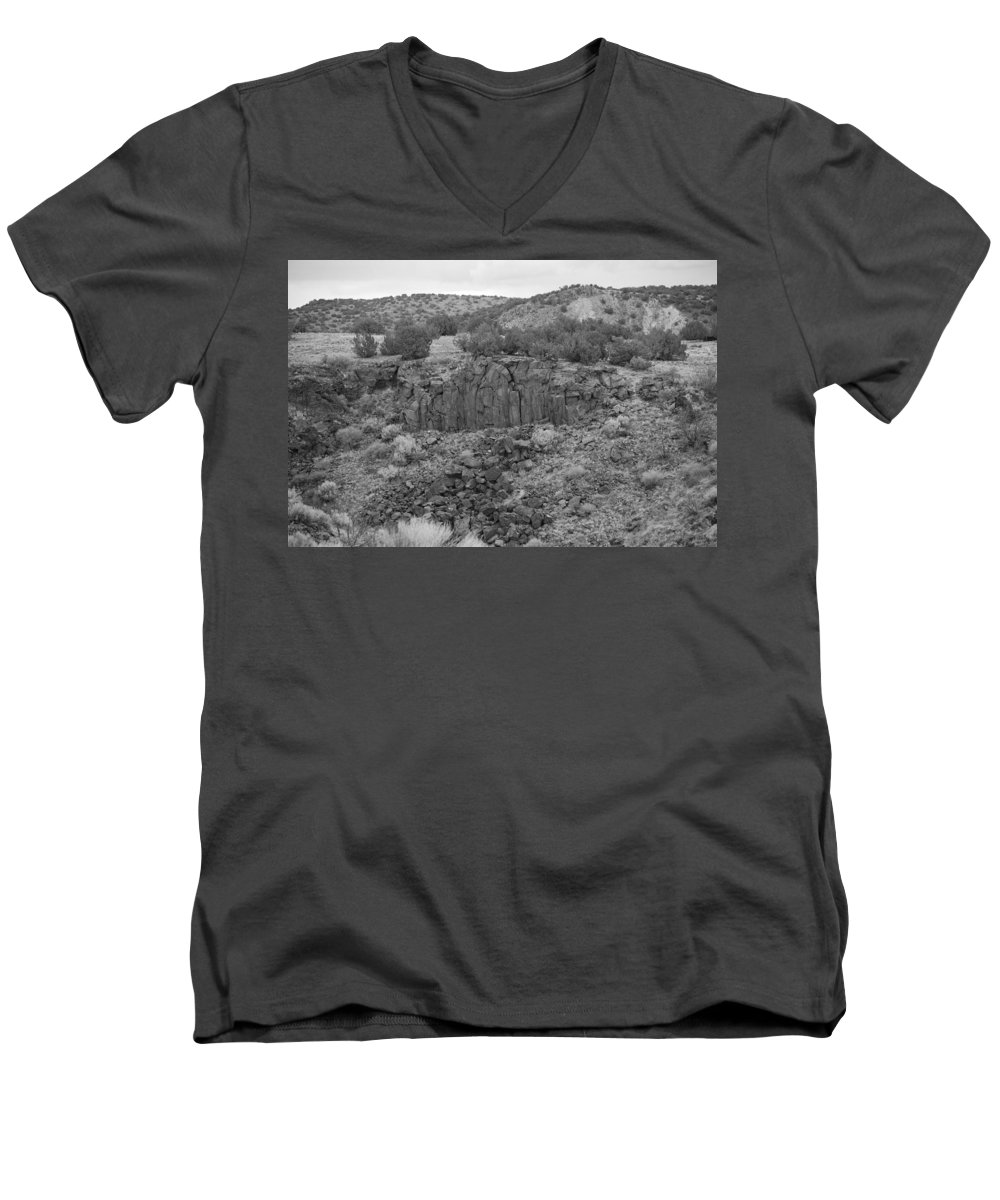 Rocks Men's V-Neck T-Shirt featuring the photograph Cochiti Rocks by Rob Hans