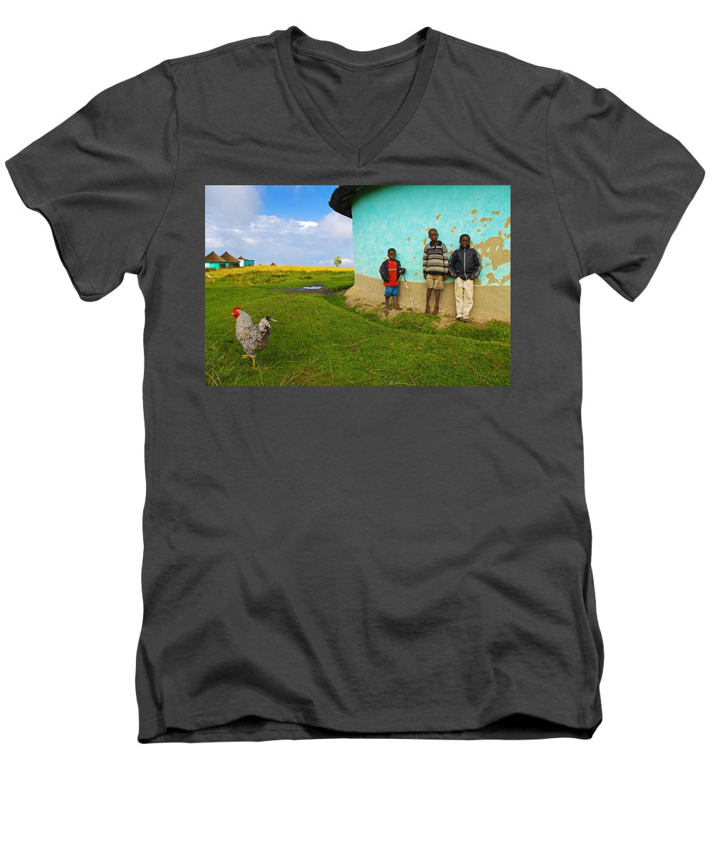 Skip Men's V-Neck T-Shirt featuring the photograph Cocky by Skip Hunt
