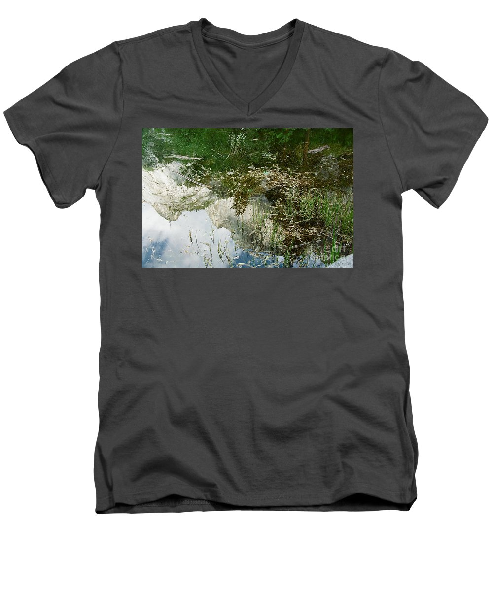 Mirror Lake Men's V-Neck T-Shirt featuring the photograph Confusion by Kathy McClure