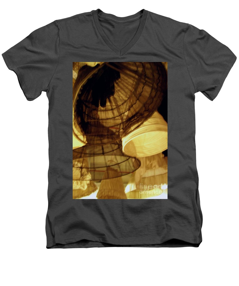 Theatre Men's V-Neck T-Shirt featuring the photograph Crinolines by Ze DaLuz
