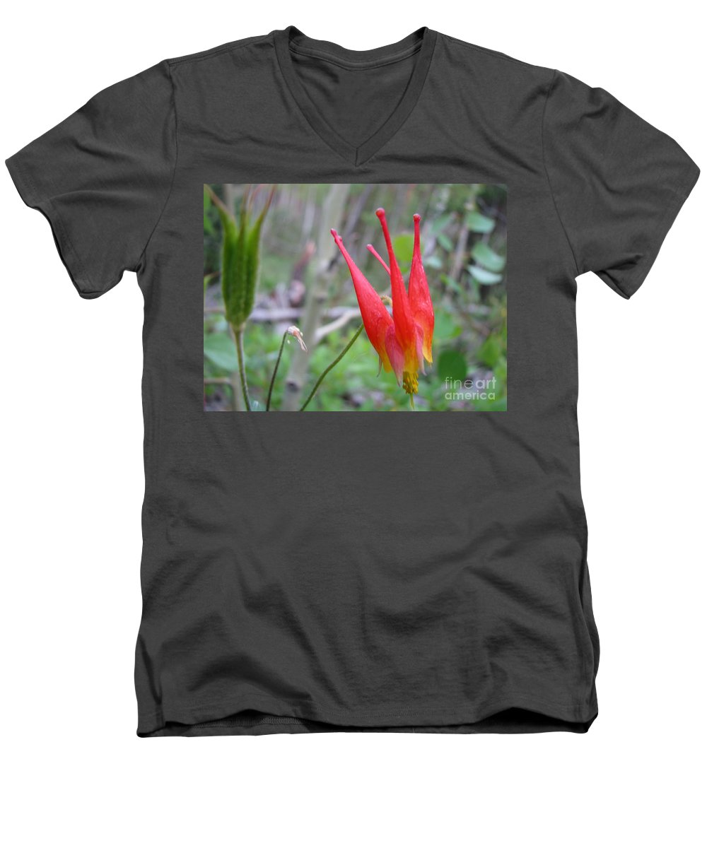 Flowers Of Colorado Men's V-Neck T-Shirt featuring the photograph Crown by Amanda Barcon
