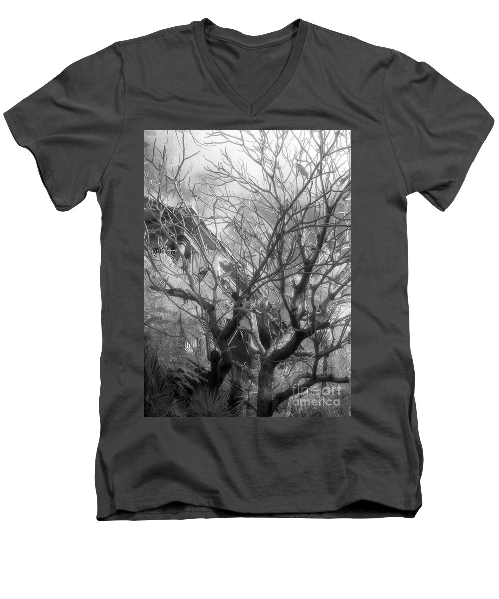 Infrared Photography Men's V-Neck T-Shirt featuring the photograph Day Dream by Richard Rizzo