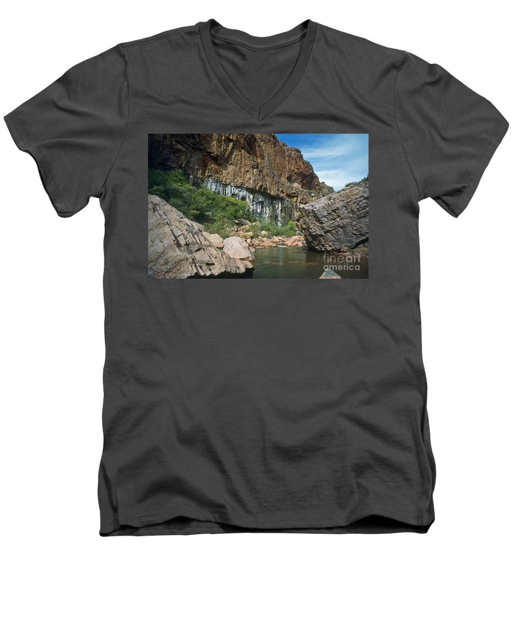 Landscape Men's V-Neck T-Shirt featuring the photograph Deep Water by Kathy McClure