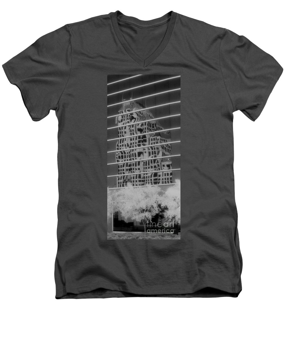 Distorted Men's V-Neck T-Shirt featuring the photograph Distorted Views by Richard Rizzo