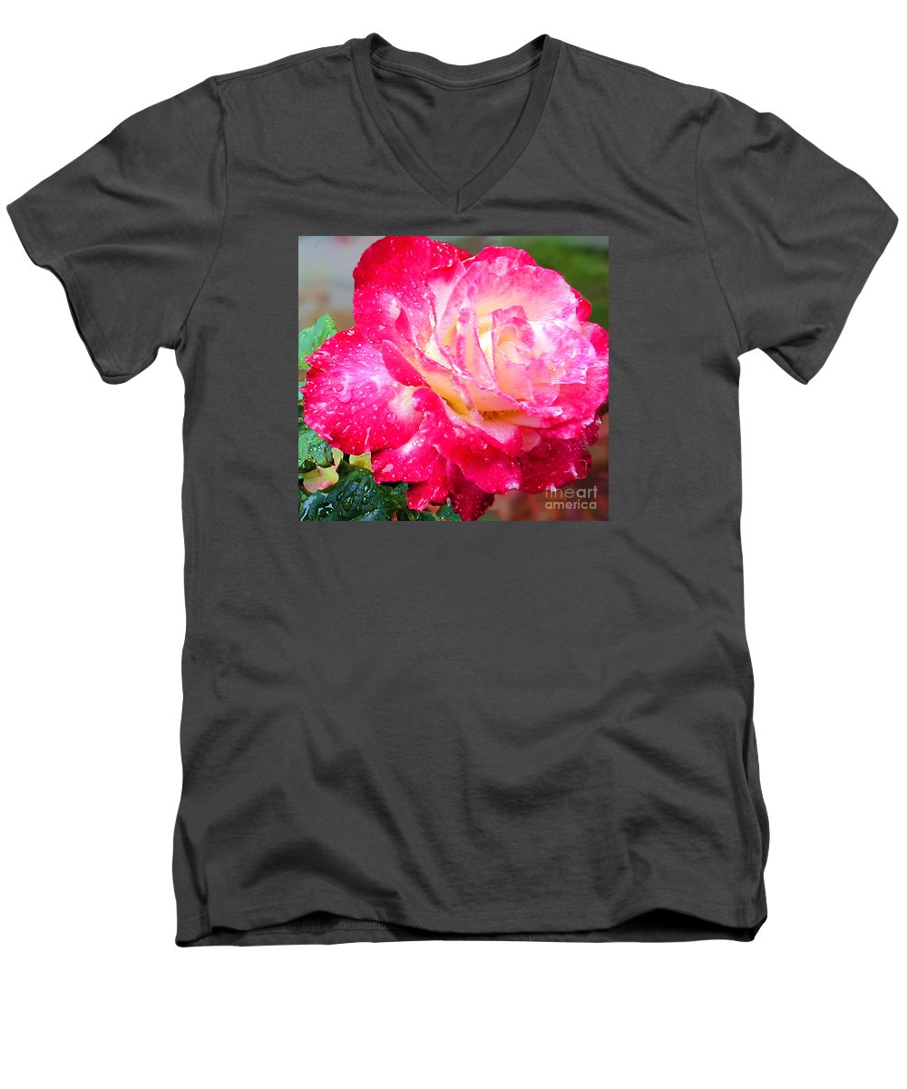 Fine Art Photography Men's V-Neck T-Shirt featuring the photograph Double Delight by Patricia Griffin Brett