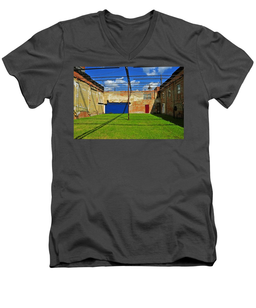 Skiphunt Men's V-Neck T-Shirt featuring the photograph Eco-store by Skip Hunt