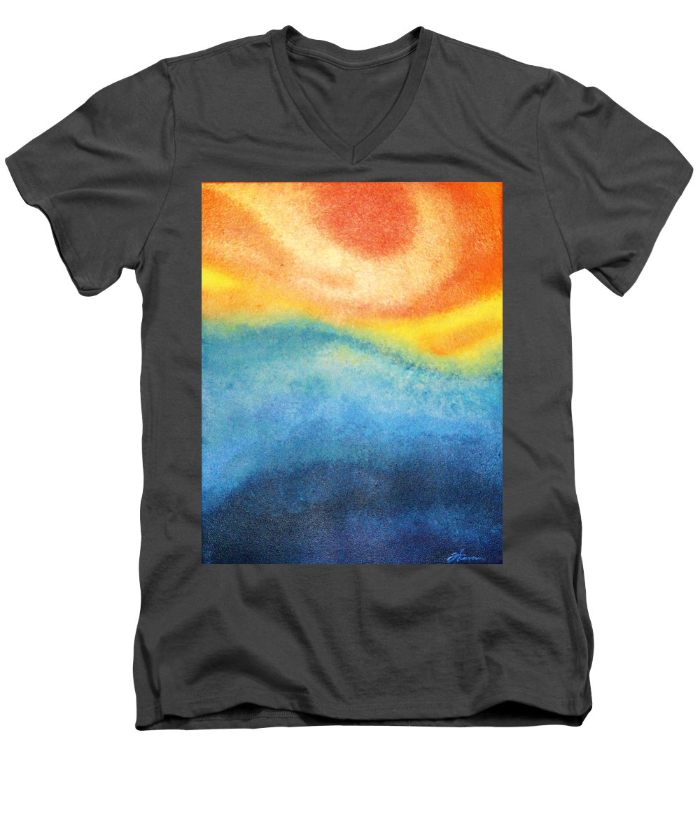 Escape Men's V-Neck T-Shirt featuring the painting Escape by Todd Hoover