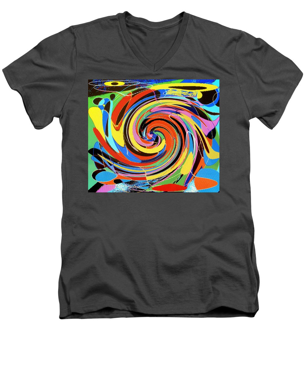 Men's V-Neck T-Shirt featuring the digital art Escaping The Vortex by Ian MacDonald