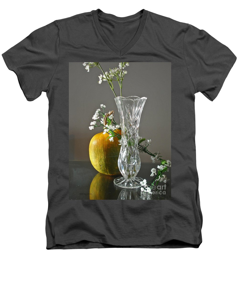 Still Life Men's V-Neck T-Shirt featuring the photograph Everlasting Harvest by Shelley Jones