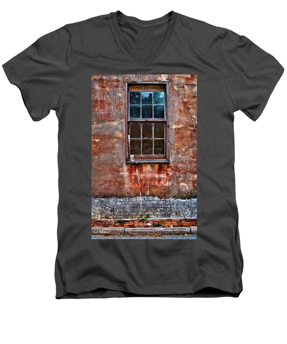 Window Men's V-Neck T-Shirt featuring the photograph Faded Over Time by Christopher Holmes