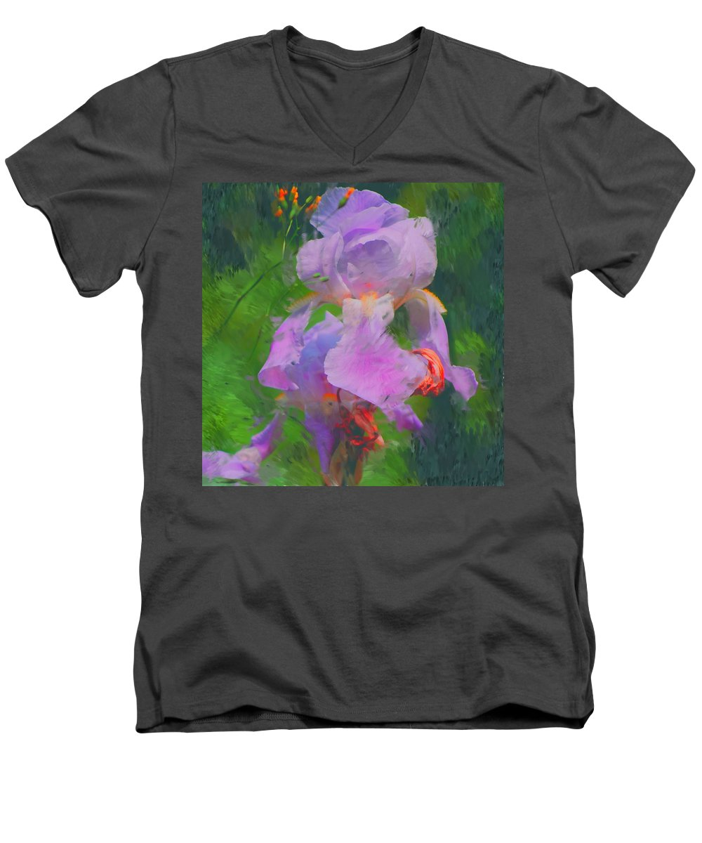 Iris Men's V-Neck T-Shirt featuring the painting Fading Glory by David Lane
