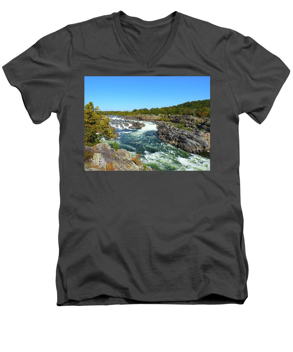 Men's V-Neck T-Shirt featuring the photograph Fall Colors by Tony Umana