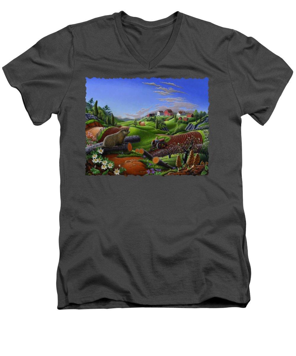 Groundhog V-Neck T-Shirts