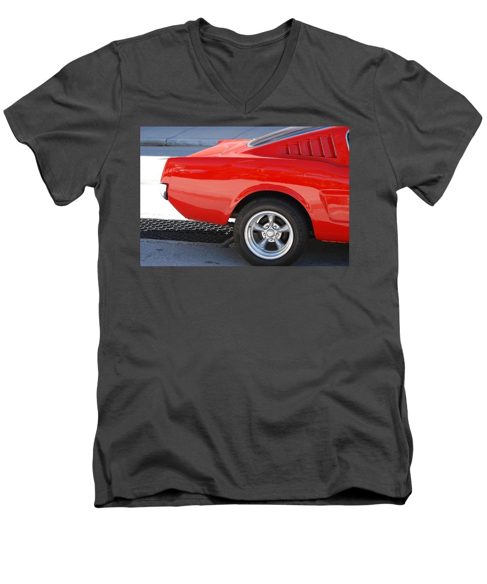 Ford Men's V-Neck T-Shirt featuring the photograph Fastback Mustang by Rob Hans