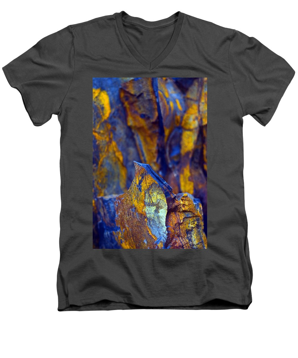 Texture Men's V-Neck T-Shirt featuring the photograph First Cut Is The Deepest by Skip Hunt