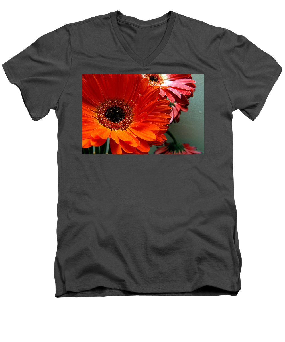 Clay Men's V-Neck T-Shirt featuring the photograph Floral Art by Clayton Bruster