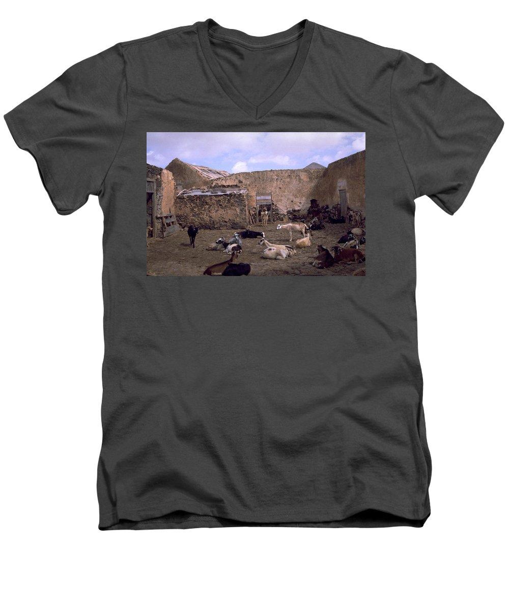 Fuerteventura Men's V-Neck T-Shirt featuring the photograph Fuerteventura IIi by Flavia Westerwelle