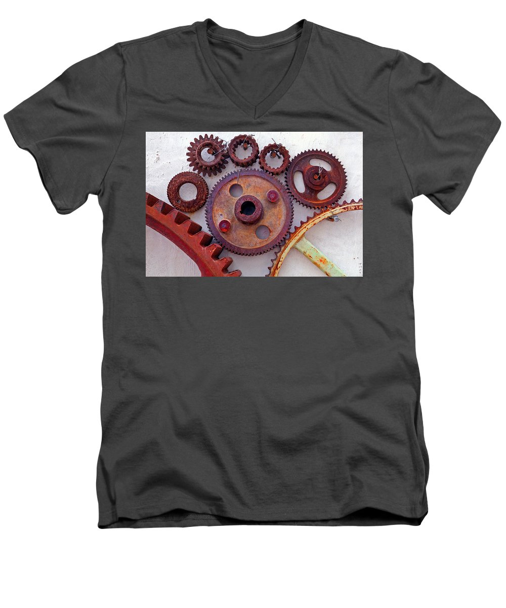 Gears Men's V-Neck T-Shirt featuring the photograph Ghost by Skip Hunt