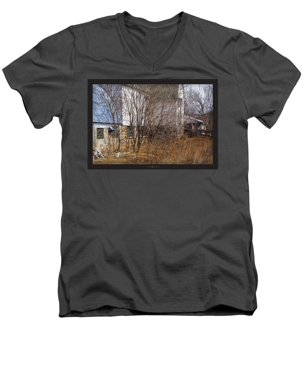 Barn Men's V-Neck T-Shirt featuring the photograph Glass Block by Tim Nyberg