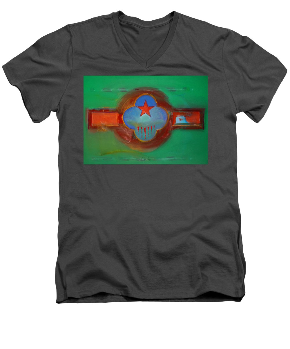 Star Men's V-Neck T-Shirt featuring the painting Grand Canal by Charles Stuart