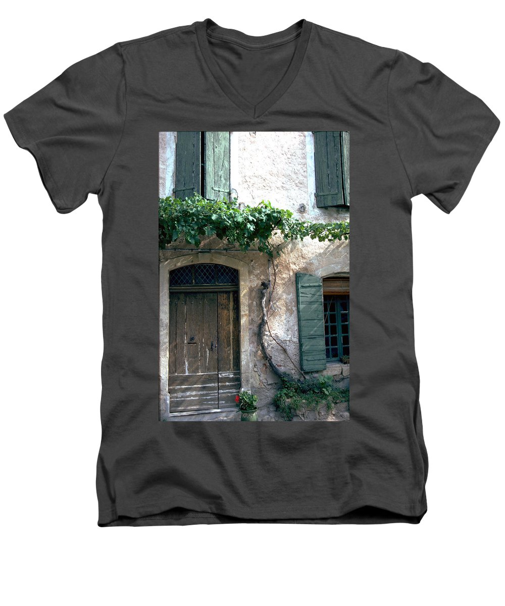 Grapevine Men's V-Neck T-Shirt featuring the photograph Grapevine by Flavia Westerwelle