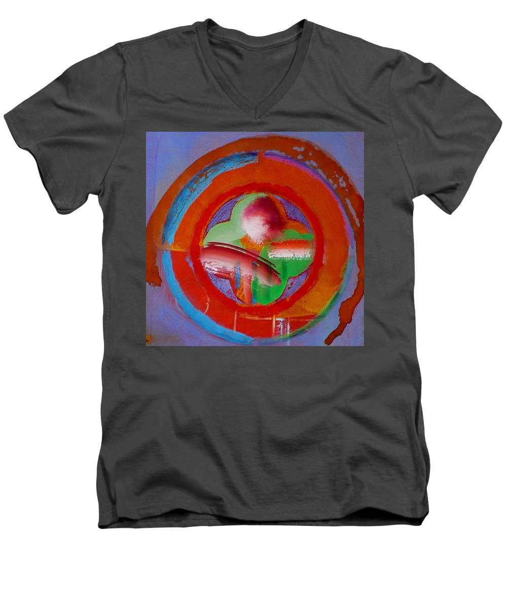 Love Men's V-Neck T-Shirt featuring the painting Green Planet by Charles Stuart