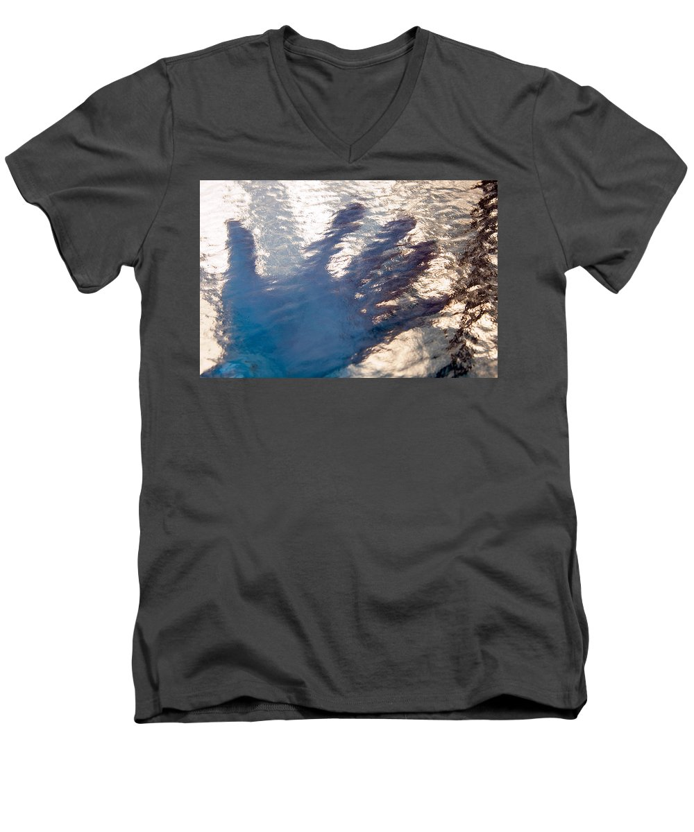 Clay Men's V-Neck T-Shirt featuring the photograph Hand Out by Clayton Bruster